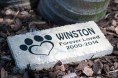Personalized Natural Stone Engraved Travertine paver by JKRSRocks