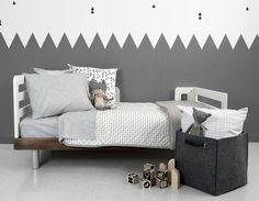 Grey and white bedroom | Grey is such a great colour for a boy or girl room and one that won't be outgrown quickly either | OLLI + LIME