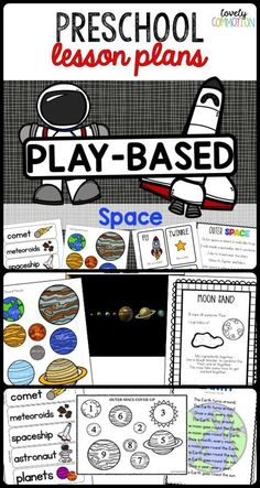 Preschool Lesson Plans Space Blast Off Into Space Without Leaving Your Preschool Classroom With This Fun And Educational Pre Kindergarten Lesson Plan Unit Two Weeks Worth Of Lesson Plans Songs Center Materials And Space Preschool, Space Activities, Preschool Learning Activities, Preschool Science, Preschool Lessons, Science Lessons, Preschool Centers, Preschool Writing, Preschool Printables