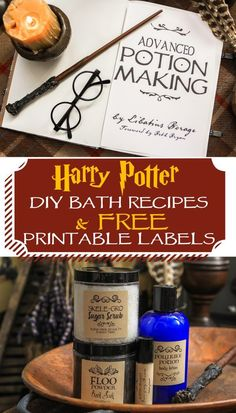 Harry Potter themed bath and body gift ideas for Halloween treats, birthday party favors or teacher gifts. Simple DIY recipes to make for your Muggles.
