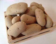 Pretend Play Felt Food Set of 5 x Potatoes - 2 x Large 3 x Small