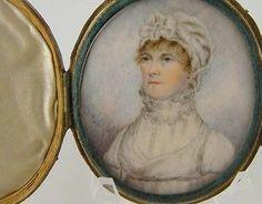 Superb Antique Circa 1830 American Miniature of A Lady in White Portrait | eBay