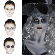 An instant Ghost Make Up Kit with everything you need to create the look with Facepaint palette, Cream Make Up, Detail Crayon and Applicators plus ful. An instant Ghost Make Up Halloween Zombie Makeup, Family Halloween Costumes, Halloween Fancy Dress, Halloween 2019, Halloween Themes, Halloween Stuff, Halloween Customs, Halloween Ball, Costumes