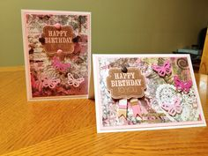 Birthday card both horizontal and vertical look.  Sometimes when making one card it's just as easy to make two!