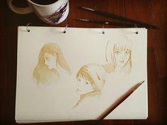 Watercolor coffee sketchbook
