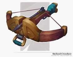 ArtStation - Stylized Crossbow Concept with Process, Becca Hallstedt