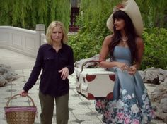 Tahani Al-Jamil's Blue Floral Dress on The Good Place