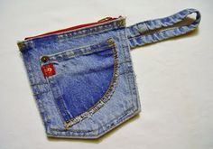 Nuckin' Futs Knitter: Recycled Denim Pouch - tutorial