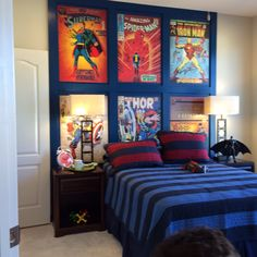 Love this super hero room for my sons