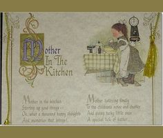 Vintage Holly Hobbie Mothers Day CardPoem 12  by AtticBasement