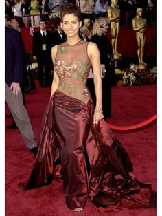 Halle Berry, 2002  The Best Oscar Dresses of All Time  Elie Saab