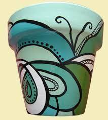Resultado de imagen para dibujos para pintar macetas Flower Pot Art, Flower Pot Design, Flower Pot Crafts, Clay Pot Crafts, Ceramic Pots, Terracotta Pots, Clay Pots, Painted Plant Pots, Painted Flower Pots