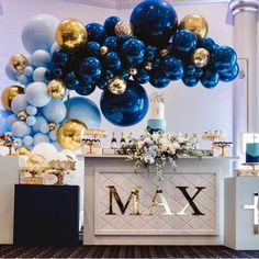 "THE EVENT COLLECTIVE ✖️ on Instagram: ""These metallic blues are just WOW 💙 @babyshowerconnoisseur #theeventcollectivex #events #celebration #... - #ababyshowerconnoisseur #blues #collective #event #instagram #metallic #these - #balloonndecoration"