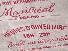 Le Dépanneur Café by Fanny Roy, via Behance