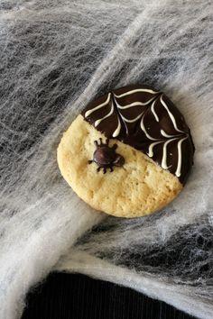 Spider Web Halloween Cookies