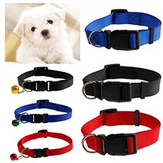 Milkhouse Pet Collars,Dog Cat Puppy Nylon Collar Neck Strap Adjustable Buckle (M, Red) >>> Continue to the product at the image link. (This is an affiliate link) #Dogs