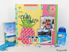 """A summery mix and match layout by using the """"Sunshiny Days"""" and the """"Fun in the Sun"""" collections by Scrapbooking, Scrapbook Layouts, Tropical Paradise, Summer Crafts, Hello Everyone, Sunny Days, Good Times, Pineapple, Collections"""