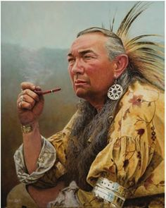 Native Americans Indians by Steve White, Frontier Artist ~ Peace in My Heart
