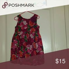 Little girls dress Fuchsia purple with flowers on it Children's Place Other