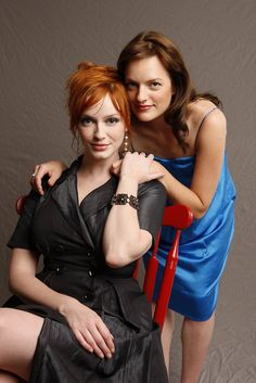 Christina Hendricks and Elizabeth Moss
