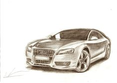 Audi A5 рисунок карандашом на а4 #рисунок #карандашом #Audi