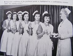 Nurse Capping Ceremony and Candelighting Cerenony at Presbyterian Hospital School of Nursing 1951