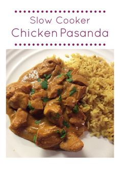 Tasty slow cooker chicken pasanda curry recipe you can just put in the pot in five minutes