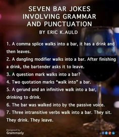 These are all good!  #grammar #jokes