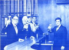 Cronies from the Stevens Point Brewery drinking on the job back when Point Special lager was made with brewer malt and corn grits.  Now the SPB wants quantity not quality.  Just taste their beer in 2017 and you be the judge!