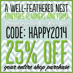 A Well-Feathered Nest: Printables SALE