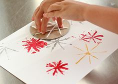 Fireworks painting craft