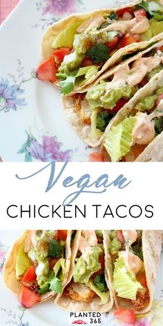 Vegan Fried Chicken Tacos recipe isn't fried and it's not chicken! It's a delicious and healthy Plant-Based Recipe - from This Vegan Fried Chicken Tacos recipe isn't fried and it's not chicken! It's a delicious and healthy Plant-Based Recipe - from Fried Chicken Taco, Chicken Taco Recipes, Chicken Tacos, Healthy Chicken, Vegan Dinner Recipes, Lunch Recipes, Vegetarian Recipes, Healthy Recipes, Healthy Tacos