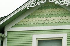 Trendy Home Exterior Green Siding Colors Ideas Siding Colors, Exterior Paint Colors, Exterior House Colors, Paint Colors For Home, House Siding, House Paint Exterior, Tiny Little Houses, Tiny House, Green Siding