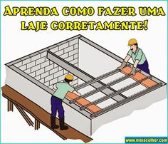 Aprenda como fazer u – Join in the world of pin Concrete Formwork, Concrete Cement, Concrete Blocks, Concrete Block Foundation, Brick Pathway, Diy Projects Plans, Construction, Flat Roof, Civil Engineering