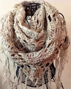 TriangleStitch Fisherman's Wool Crochet by DapperCatDesigns, $20.00