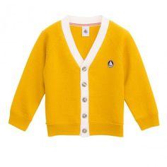 Petit Bateau new collection ! http://www.littlefashiongallery.com/fr/mode-enfant/petit-bateau-enfant/petit-bateau-enfants-wool-and-cotton-cardigan-jaune-h13/