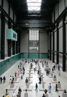 The Tate Modern Gallery in London. It is Britain's national gallery of international modern art.