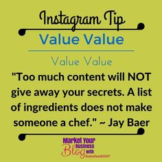 """Instagram Tip: Give value in a """"fun"""" way! People come onto social media looking for information. They do not come onto social media to be sold. So reward your followers by giving them the information they are looking for     Want to learn more about building your business using Instagram? Or want to work closely with me? Click the link in my bio @RobinSmith2007 and join my community!  #marketyourbusinessblog"""