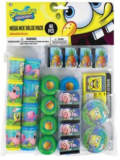 Spongebob Mega Mix Favor Pack - Spongebob Party Supplies
