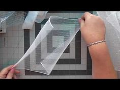 How to make an angel out of deco mesh ribbon - YouTube