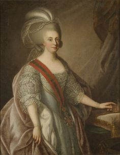 Portrait of Maria I of Portugal (1734-1816), attributed to Giuseppe Troni, 1783