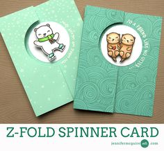 2017  VIDEO  TUTORIAL  Z Fold Spinner Card by Jennifer McGuire Ink
