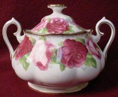 victoriana rose china pattern | Royal Albert China Old English Rose Pattern Sugar Bowl with Lid | eBay