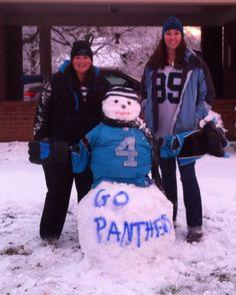 Panthers snowman rocking a John Kasay jersey!