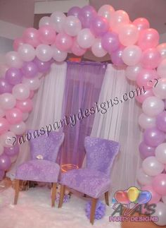 Simple And Elegant Pink, Purple U0026 White Baby Shower Arch