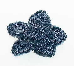 POPPET 41 Beaded Flower (Other colors available)| Ladies leather pouch