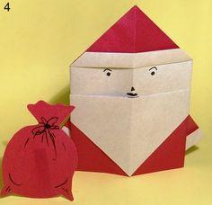 оригами дед мороз схема 4