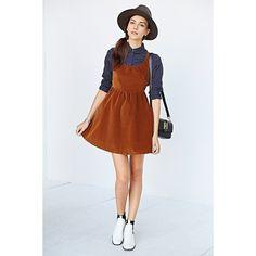 Ladakh Velvet Underground Dress ($80) ❤ liked on Polyvore featuring dresses, light brown, short velvet dress, short layered dress, velvet dress, short dresses and scoop-neck dresses