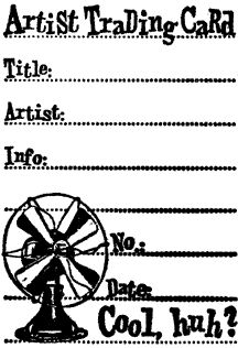 price reduced horizontal atc artist trading card back stamp rubber