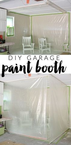 how to build a convertible paint booth in your garage!! easy to clean up, easy to set up. #howtocleanagarage
